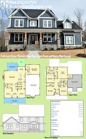 5 bedroom craftsman house plans plan 500007vv craftsman house plan with floor room and