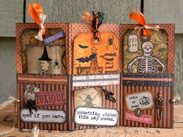 paxton valley folk art open if you dare halloween accordion tag