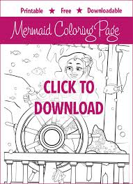 free mermaid coloring destiny download print
