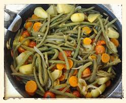 comment cuisiner les haricots verts poêler d haricot vert et petit légumes au thermomix la cuisine