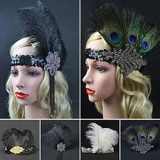 1920 hair accessories feather hair accessories for women s 1920 s style ebay