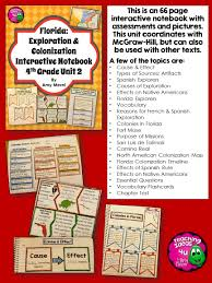 Florida Child Support Guidelines Worksheet Florida Exploration U0026 Colonization Interactive Notebook 4th Grade
