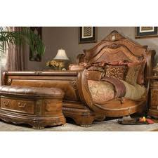 King Sleigh Bed King Leather Sleigh Bed Wayfair