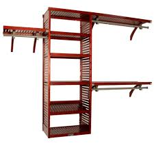 Home Depot Closet Organizers John Louis Home 16 In Deep Deluxe Closet System In Red Mahogany