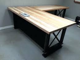 Steel Office Desks Desk Solid Wood And Steel Office Desk Configured For Your Space
