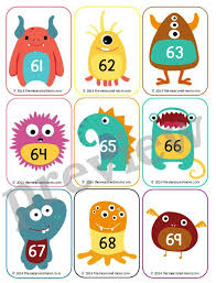 free number cards 1 130 ideas