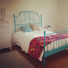 blue iron bed bedroom pinterest iron bedrooms and room