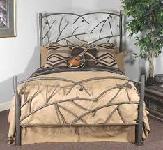 rustic headboards king size pine cone bed frame and headboard
