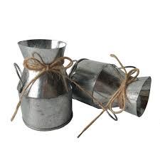 silvery meat plant pot tin pail succulent planter mini hanging