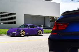 miami blue porsche gt3 rs ultraviolet purple porsche gt3 rs adv5 2 m v2 advanced series