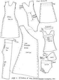 resultado de imagem para printable barbie clothes templates a
