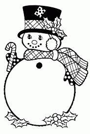 snowman holiday hat large coloring coloring
