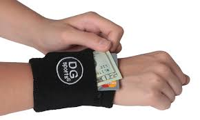 sweat band zipper sweatband wristband sport wrist arm wallet groupon