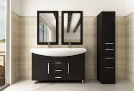 rectangle ultra modern double sink bathroom vanity lighting design