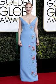 dress blue blue dress plunge dress jessica chastain red