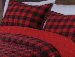 Twin Plaid Comforter Red Buffalo Check Plaid Quilt Set