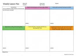 lesson plan template gelds intentional planning using the georgia early learning and