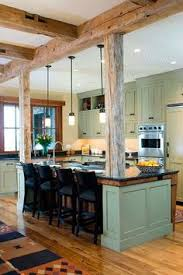 Green Cabinet Kitchen Depending On How Rustic You Would Like The Kitchen To Be Pine