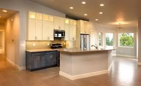 under upper cabinet lighting compare three modern custom home kitchen designs