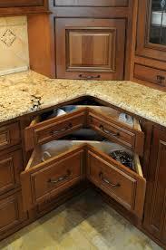 dazzling kitchen counter corner ideas drawers storage with granite