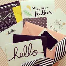 mail subscription greeting cards stationery items