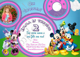mickey mouse clubhouse birthday invitation free thank you card