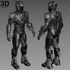 3d printable model dmk 1 armor robot suit design concept by do3d