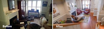 before and after photosclutterfly inc organizing downsizing