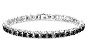 black bracelet diamond images Femme luxe 3 00 cttw tennis bracelet black diamond check back jpg