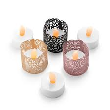tea lights with decorative wraps in 3 styles and colors u2013 frux