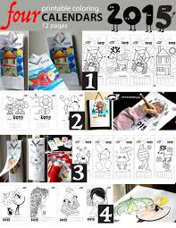 printable art calendar 2015 four printable colouring calendars 2015 piirtäminen