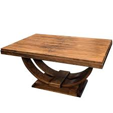 1930s art deco u base dining table in walnut art deco 1930s and
