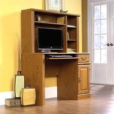 Wondrous Small Computer Desk Images Wood With Hutch In Oak Corner
