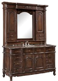 64 inch single bath vanity with hutch 2 piece traditional