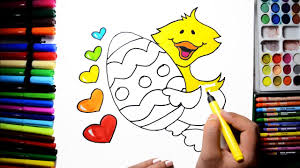 how to draw color paint easter egg heart tweety coloring pages and