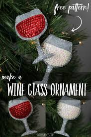 sew a felt wine glass ornament free pattern sewing patterns