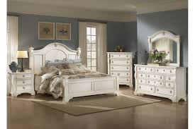 Antique White Bedroom Furniture Set American Woodcrafters Heirloom Collection Poster Bedroom Set In