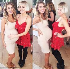 baby shower dress for to be audrina patridge shows bump as she celebrates baby