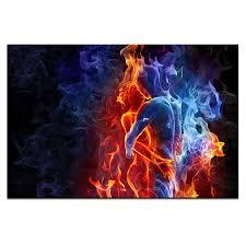 nackt im wohnzimmer romantische nackt küssen leinwanddruck bild blau rot abstrakte