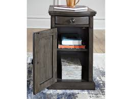 power chairside end table signature design by ashley laflorn chair side end table with power