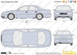 opel omega 2003 the blueprints com vector drawing opel omega b2
