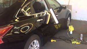 2015 nissan altima quarter panel 2014 nissan altima door paintless dent repair youtube