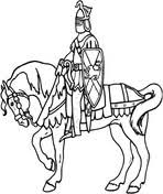 knight horse coloring free printable coloring pages