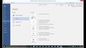 How To Send A Resume Online by How To Send A Word Document As An Email Attachment In Word 2016