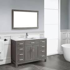 traditional bathroom vanity kalize 48 gray finish