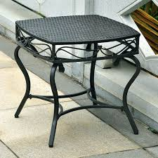 Wrought Iron Patio Coffee Table Side Table Outdoor Round Wrought Iron Coffee Table Edington 22