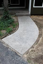 200 grit polished concrete porch steps and walkway pebble