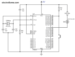 using push button switch with 8051 and keil c at89c51