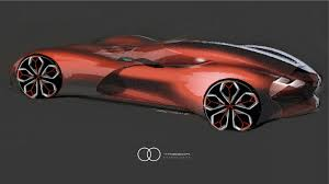 renault trezor interior renault trezor concept design sketch render by yann jarsalle car
