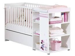 chambre de bébé conforama lit bébé 60x120 cm minnie coloris blanc prix lit bébé